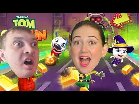 Полицейский забег в игре Том бег за золотом! Офицер Анджела против Мумии Тома от Каталекс!