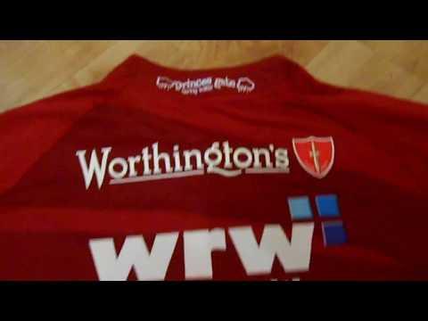 Llanelli Scarlets Rugby Shirt Jersey Home 2012/2013 Burrda Red UK L Adults