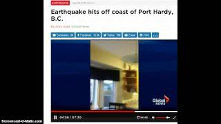 6.6 Earthquake Hits Cost Of Port Hardy B.C.