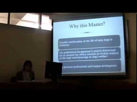 "Ivana Trana (Rumania)""Evolution of Animal Law in Romania"".2da.PARTE-Universitat Autónoma  Barcelona"
