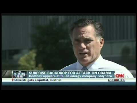 Mitt Romney Solyndra Fremont California (May 31, 2012)