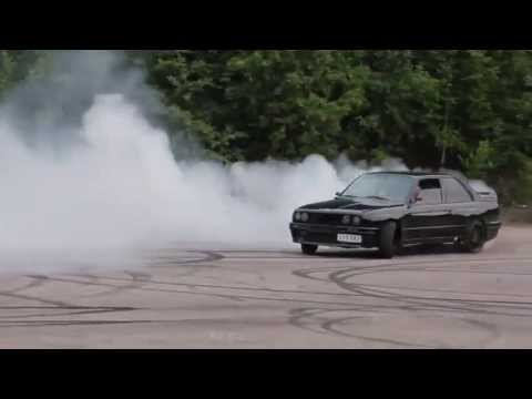 1200 BHP BMW E30 Turbo Burnout and Donuts