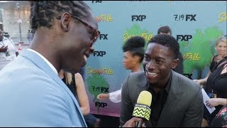 British Actor Damson Idris shares what it was like to have Popeyes for the first time
