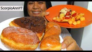 ASMR Eating Free Donuts and Cheap Hawaiian Pizza Frugal Minimalism