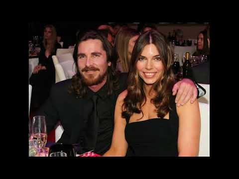 Actor christian bale with his wife Sibi Blazic