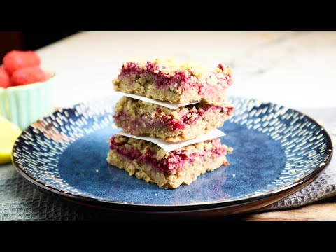 HEALTHY And DELICIOUS RASPBERRY BARS│Great For DESSERT Or BREAKFAST│These Are GF?