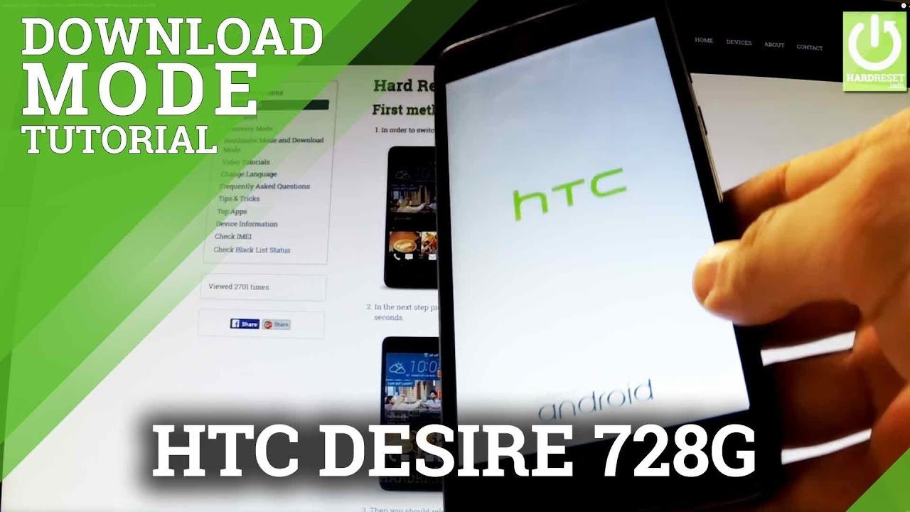 Download Mode HTC Desire 728G - HOW TO ENTER and QUIT Download Mode in HTC