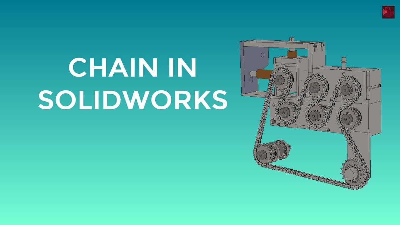 solidworks chain feature - how to model a chain in solidworks