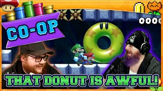THAT DONUT IS AWFUL!  | Super Mario Maker 2 Co-Op with Oshikorosu and MikeTMikee!