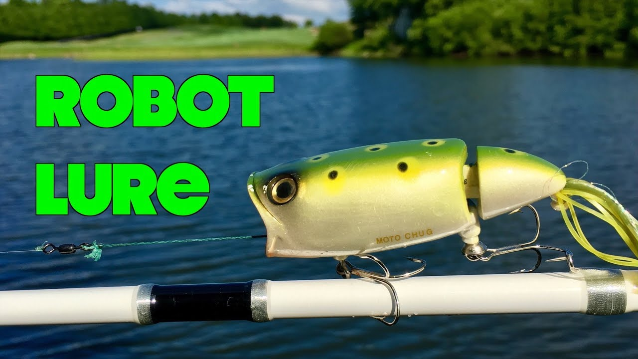 Fishing With A Robotic Lure It Actually Works Youtube