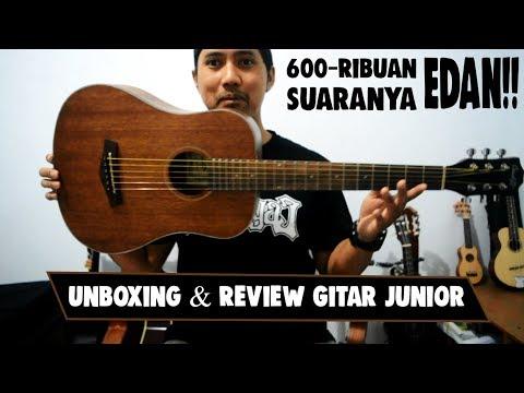 Unboxing & Quick Review Guitar Junior 3/4 Cowboy Natural GW-120 NS