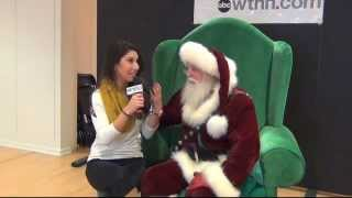 Tulin, the MyTV9 Star, with Santa