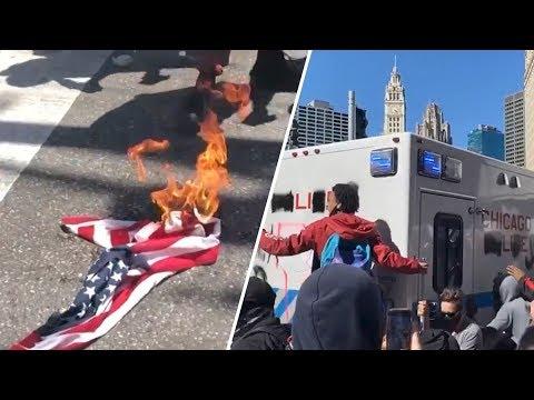 Трамп в бункере - США в аду. Беспорядки выходят из под контроля
