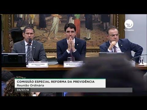 Comissão Especial da Reforma da Previdência - Aprovado texto básico da reforma - 04/07/2019 - 10:03