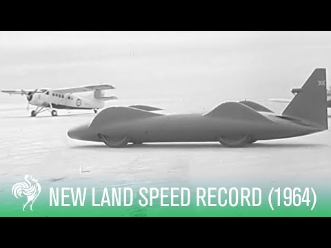 Donald Campbell Sets Land Speed Record at 403mph (1964)