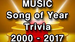 Music Trivia - Grammy Winners 2000-2017