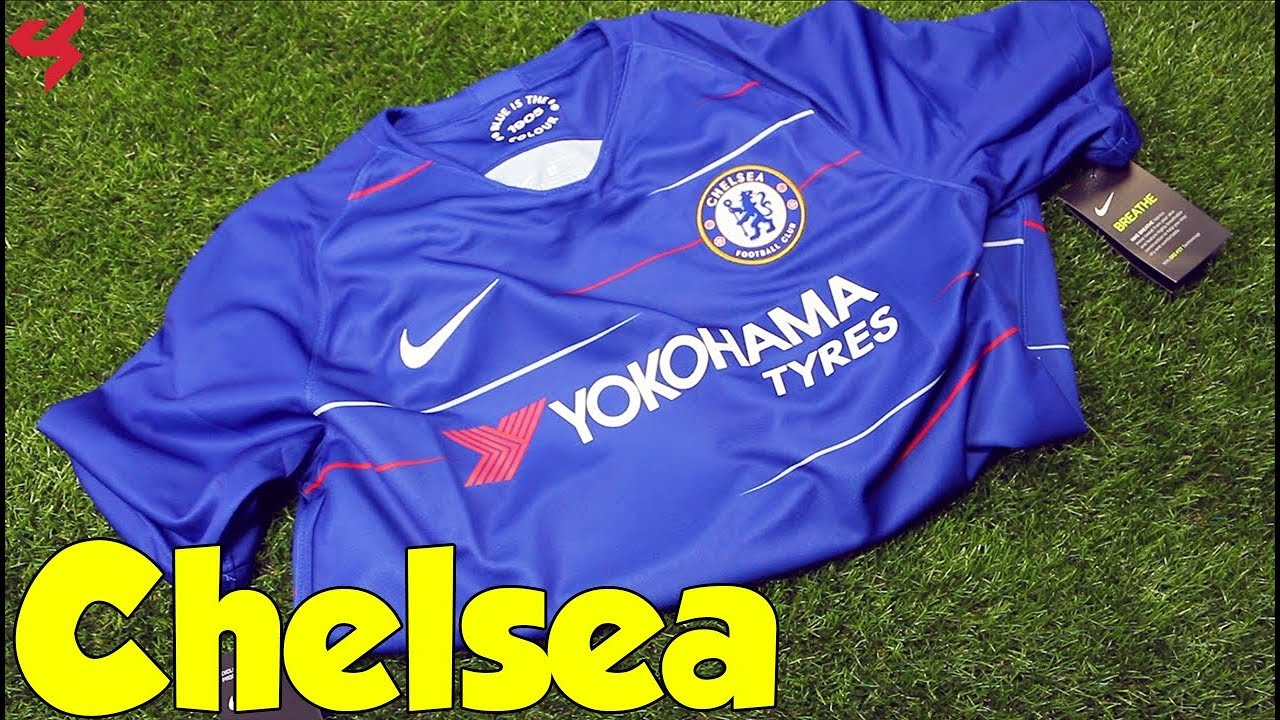 hot sale online a8165 13933 Nike Chelsea 2018/19 Home Jersey Unboxing + Review