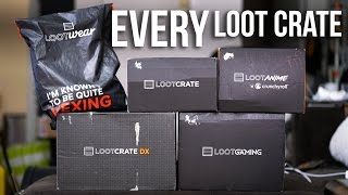 EVERY Loot Crate Compared   Mega Unboxing + Review (except Pets)