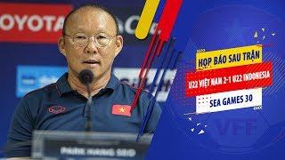 HLV Park Hang Seo chia sẻ sau bàn thắng của Thành Chung trước U22 Indonesia | VFF Channel