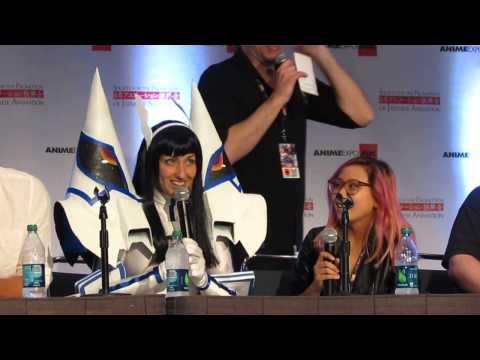 Anime Expo 2015  Carrie Keranen Satsuki and Christine Cabanos Mako improv