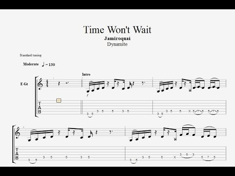 Jamiroquai - time won't wait {Backing track for Bass}