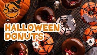 Halloween Donuts 🍩/ Doughnuts mit Füllung  / Sallys Welt