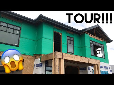 Download Youtube: Building Our Dream Home | More Framing Up, Inspections + Walk Through Tour!! - Episode 8