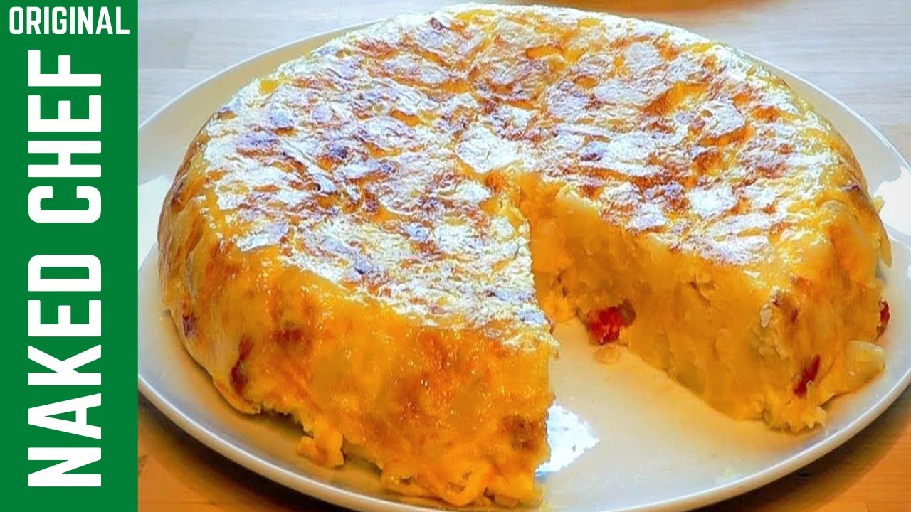 Spanish Omelette How to make Tortilla with Chorizo - YouTube