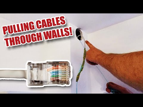Running RJ45 Network Cables Inside Walls ...and Fixing Wi-Fi Problems!