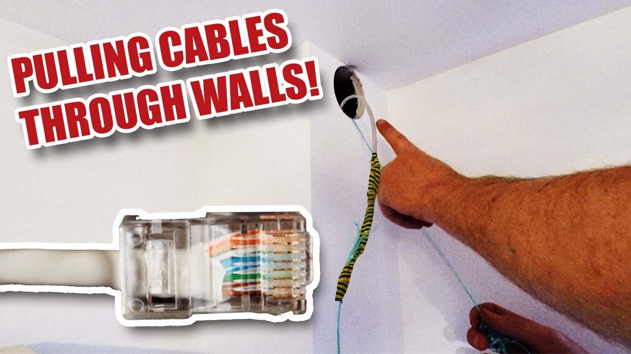 Running Rj45 Network Cables Inside Walls And Fixing Wi Fi Problems Youtube