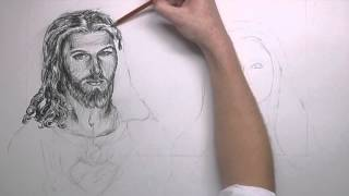 Speed Drawing of the most Sacred Heart of Jesus and the Imaculate Heart of Mary