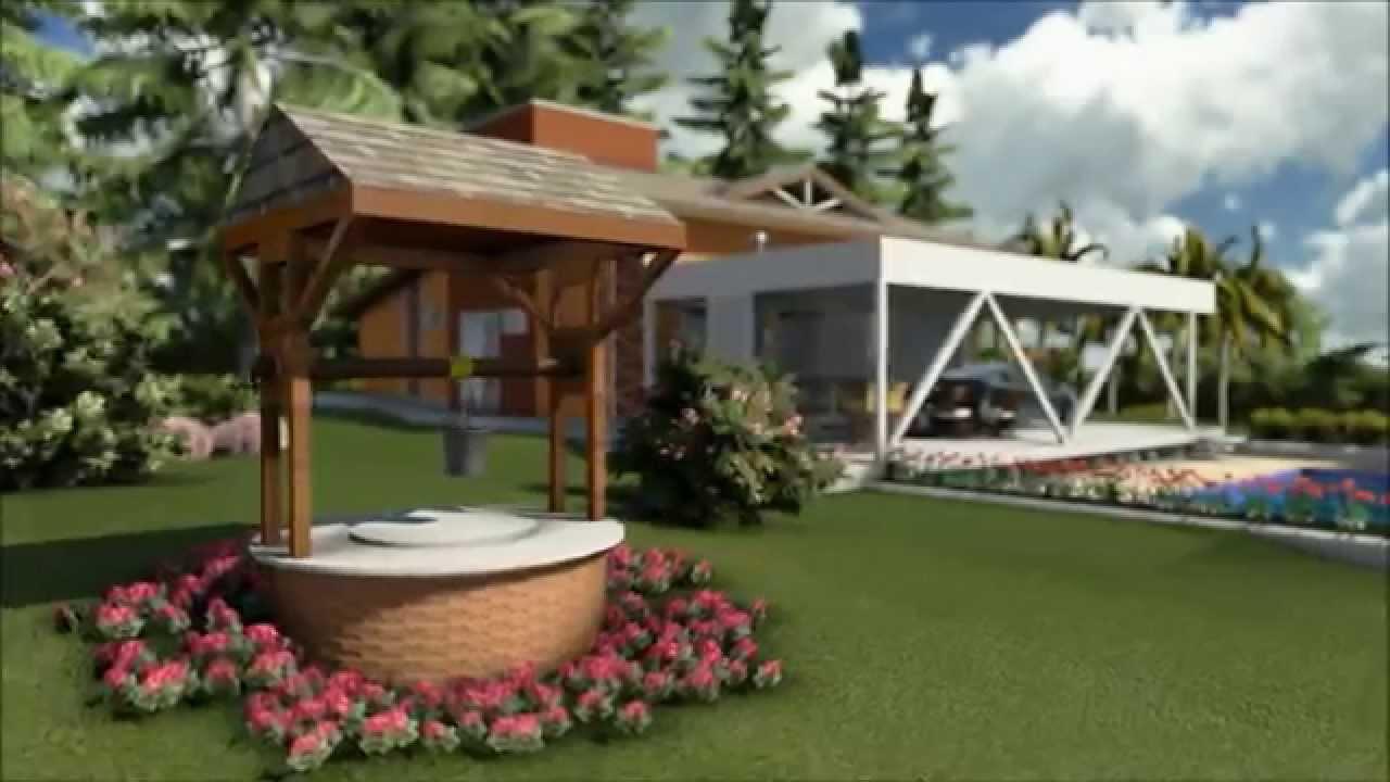 Projeto chacara country house brazil casa de campo - Casas pequenas de campo ...