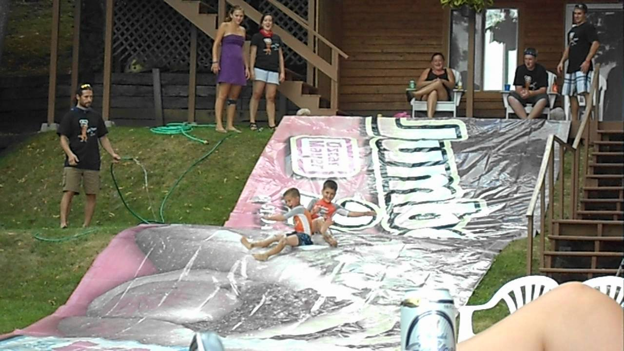 how to make a giant slip and slide