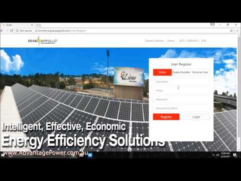 How-To Set up a Z21 Zeus Apollo Solar Power Inverter for Online Monitoring