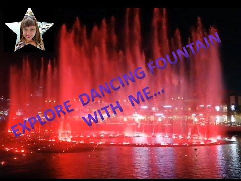 Dancing Fountain at the Point in Palm Jumeirah – Dubai, 2020