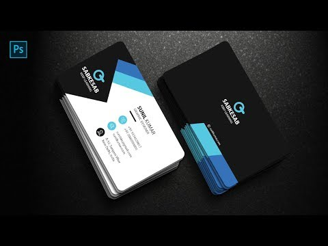 Business Card Design Hindi | Professional Visiting Card Design | Visiting Card Design In Photoshop