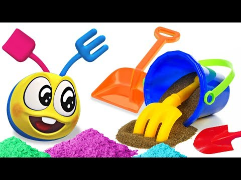 Fun With Wonderballs and Colorful Sand Toys | Learning Cartoons For Toddlers by Cartoon Candy