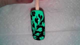 Маникюр рисунки на ногтях дизайн ногтей обычными лаками и иглой №6