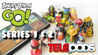 Angry Birds Go! Telepods Series 1 & 2 - teleport the toy cars into the game!!!