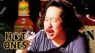 Download Bobby Lee Has an Accident Eating Spicy Wings | Hot Ones Mp3 and Videos