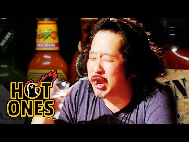 Bobby Lee Has an Accident Eating Spicy Wings   Hot Ones