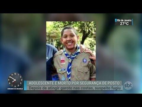 Polícia procura frentista suspeito de matar adolescente de 17 anos | SBT Brasil (05/03/18)