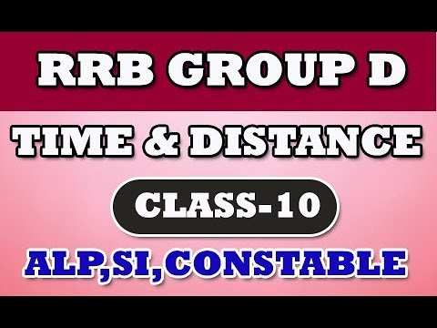 RRB Group D Arithmetic Class 10|| Time and Distance || ALP || VRO|| SI || Constable by manavidya