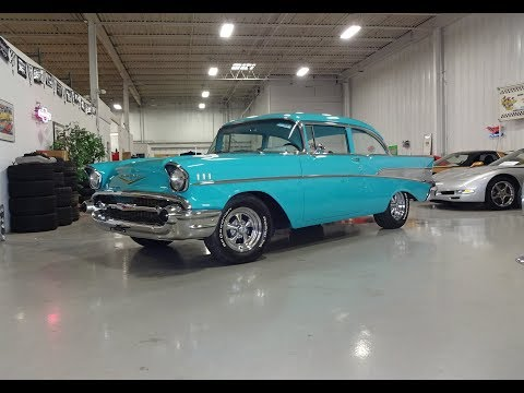 1957 Chevy Bel Air Sport Coupe in Tropical Turquoise & Engine Sound My Car Story with Lou Costabile