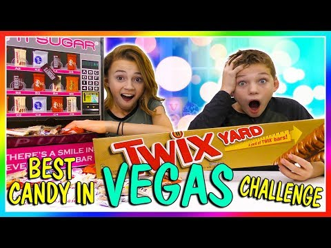 BEST CANDY IN VEGAS CHALLENGE | We Are The Davises