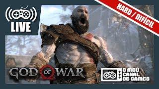 [Live] God of War (PS4 Pro): DIFICULDADE HARD - Até Zerar AO VIVO #2