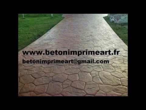 Beton Imprime Aix-la-Fayette ,France www.betonimprimeart.fr YouTube