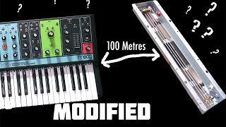 Swapping Moog Grandmothers internal spring reverb tank with one 100 metres away?