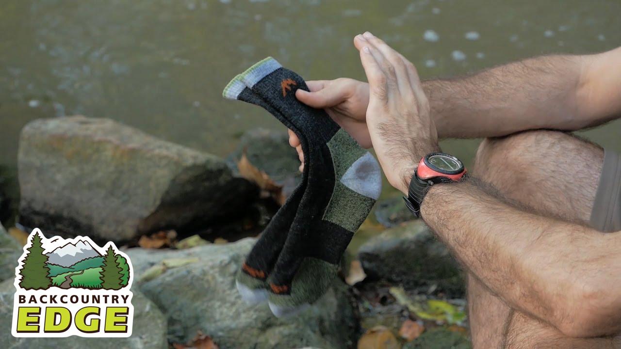 8ad3aceff700e Darn Tough Hike-Trek Merino Wool Micro Crew Cushion Sock - YouTube