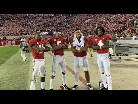 Follow Tua Tagovailoa off field after 2018 Iron Bowl win over Auburn